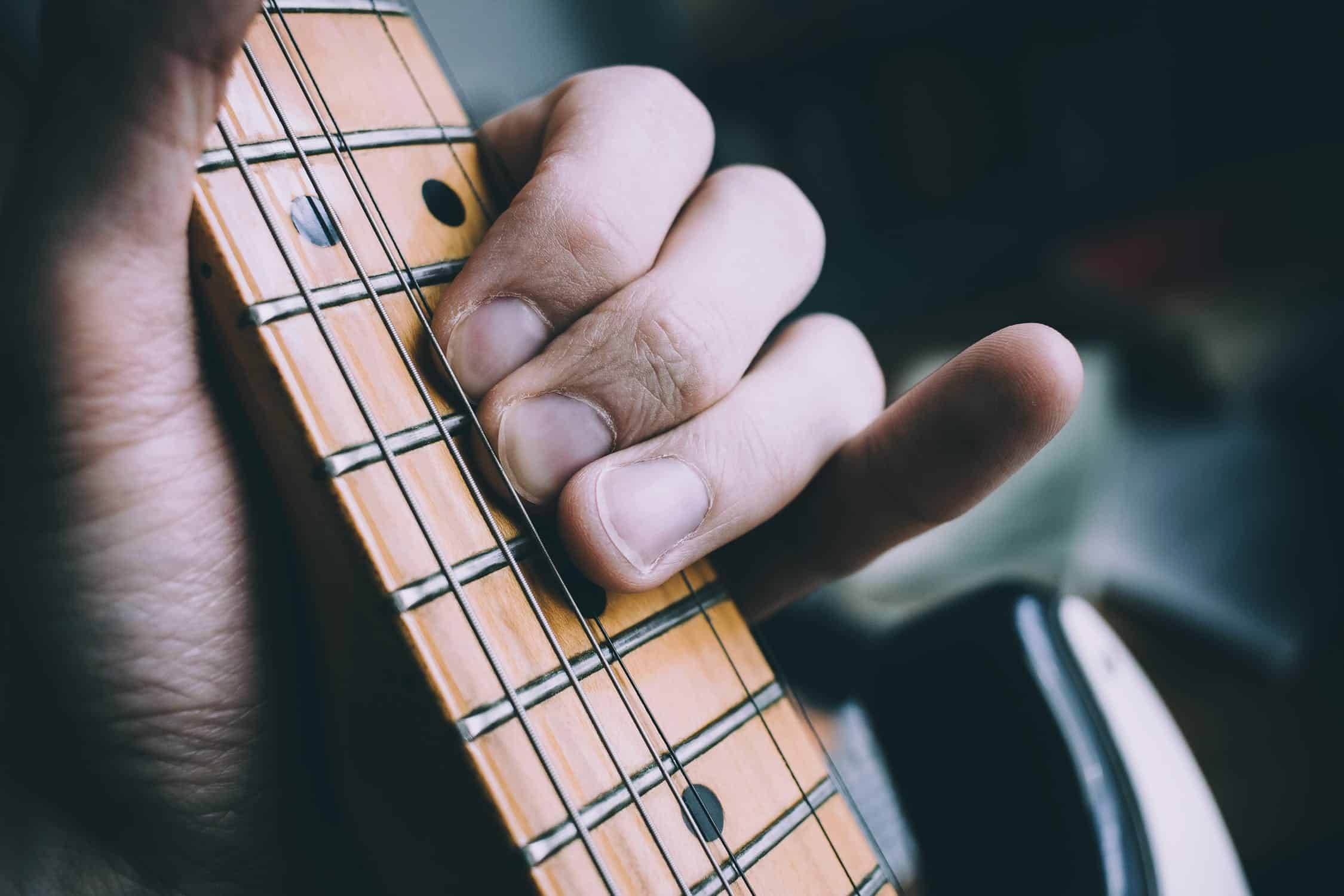 Basic Guitar Chords with their Finger Placement