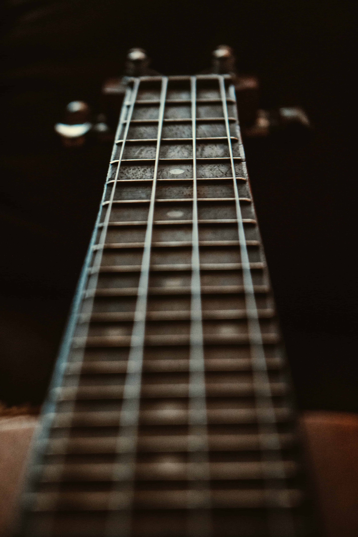 fretboard of a guitar
