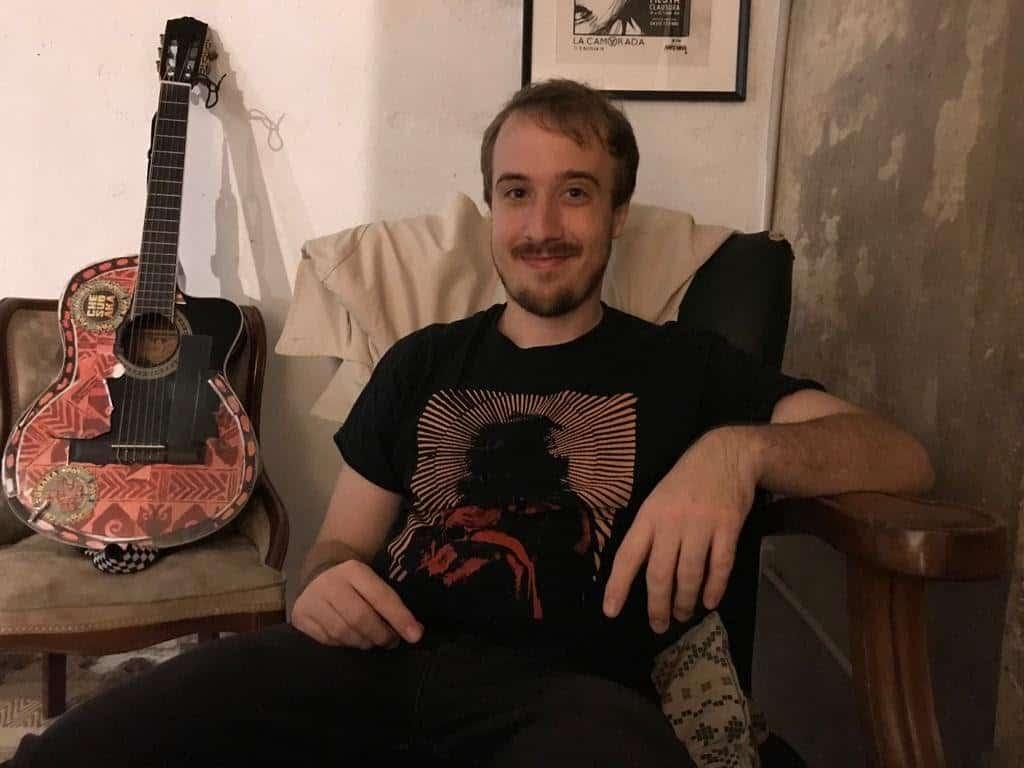 ben heckler sitting down for an interview
