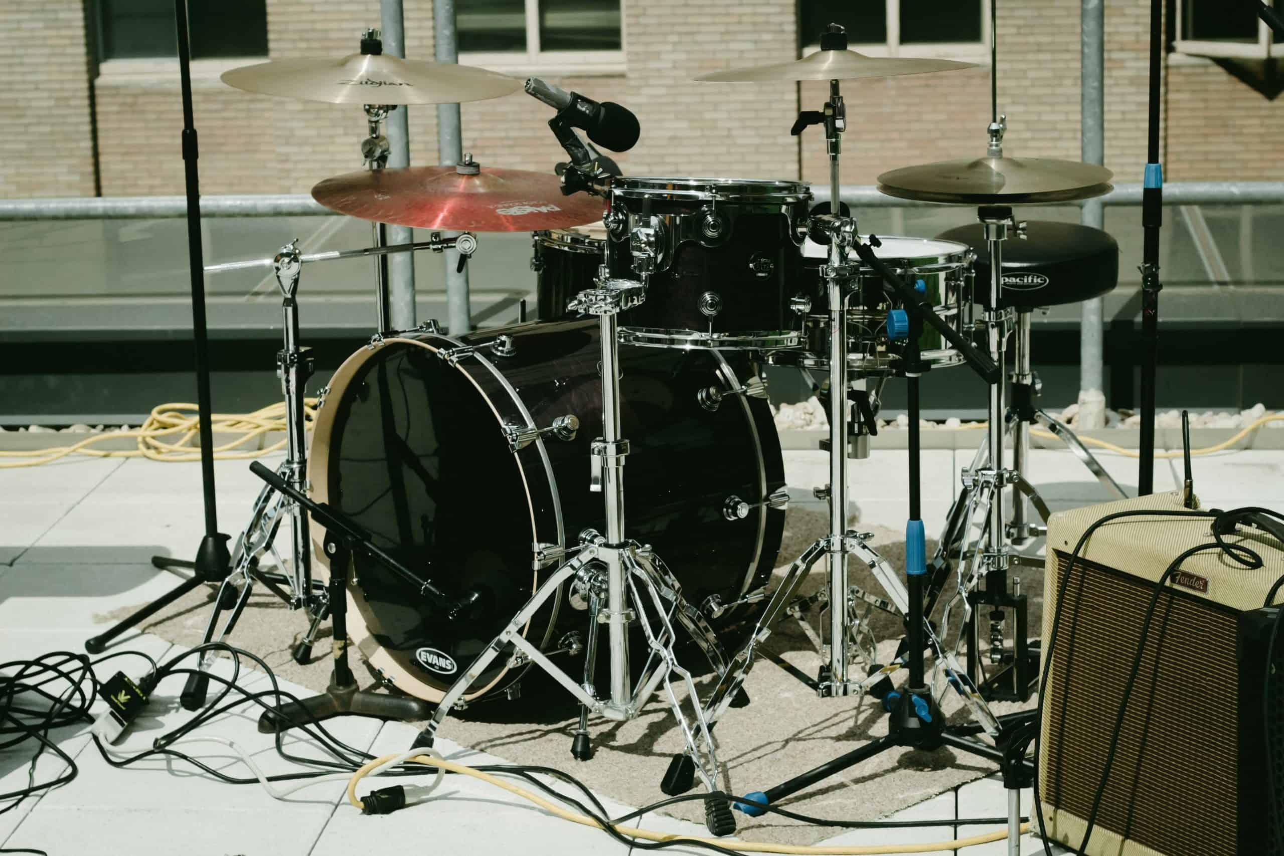 black music drum set