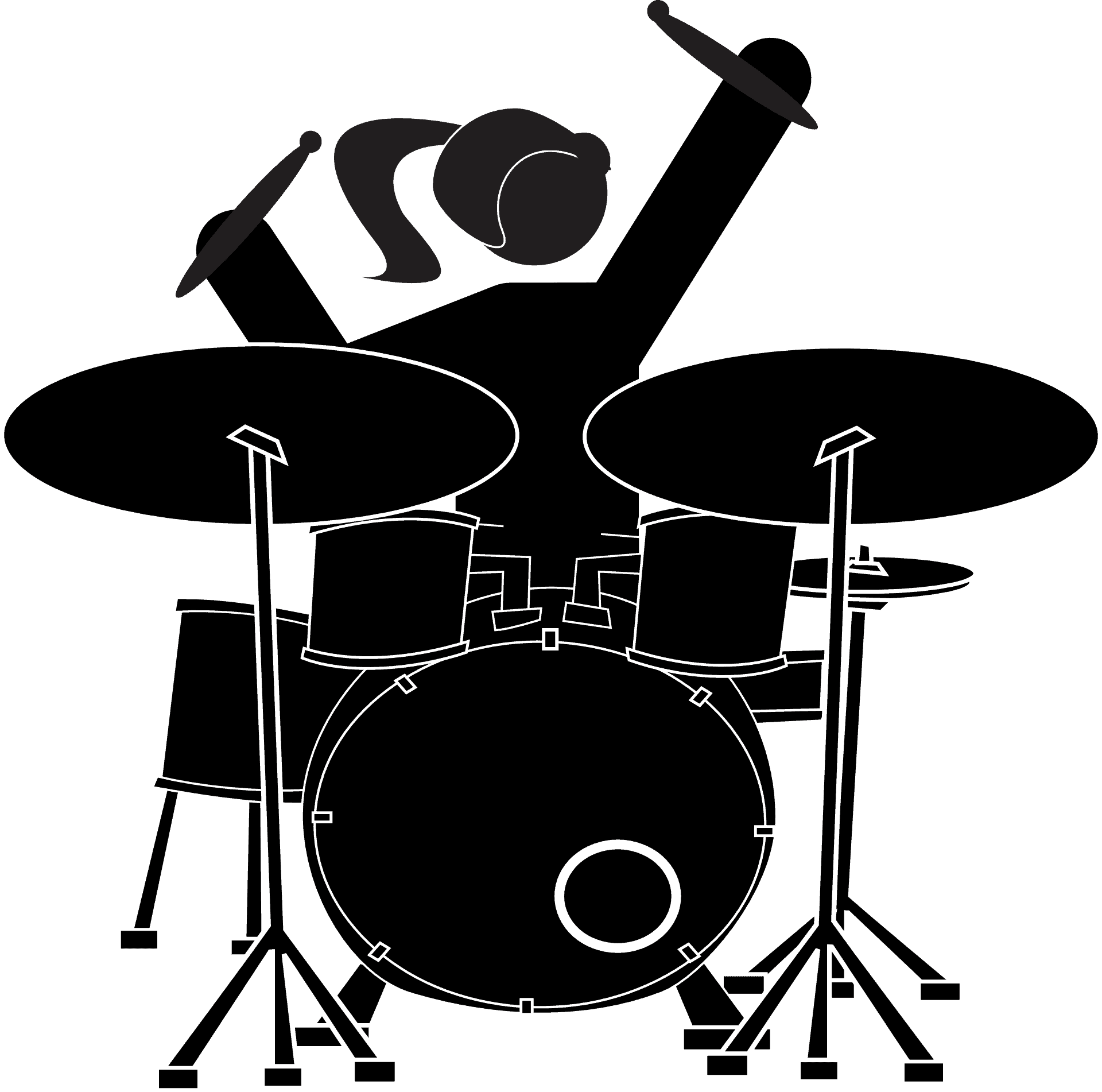 girl, drummer, drum set